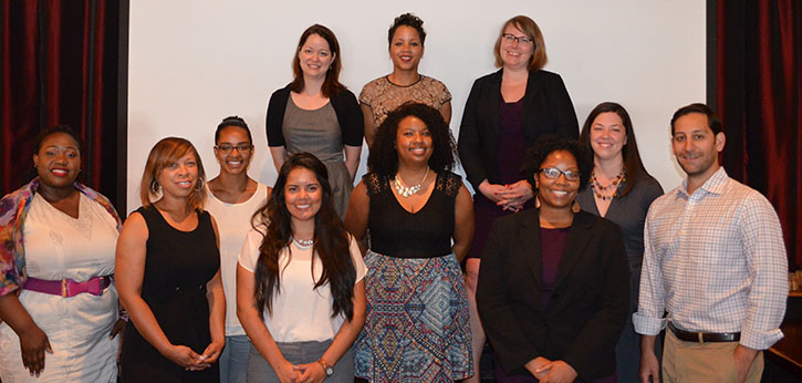 Graduates of the D.C. Youth Workforce Leaders Academy pause for a group photo.