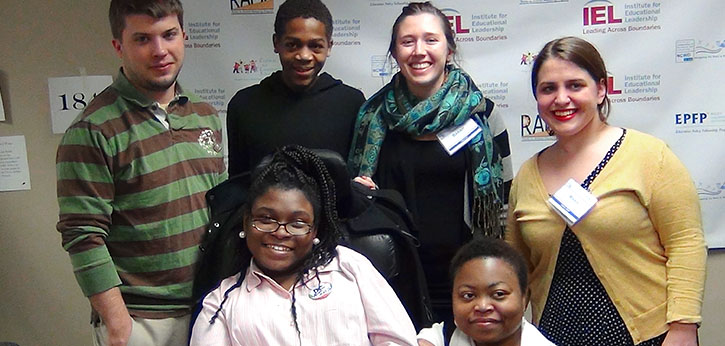 A 2013 YouthACT team poses with IEL and ODEP staff.