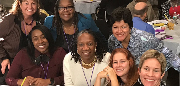 Family and community engagement professionals interact at the D.C. Learning Lab