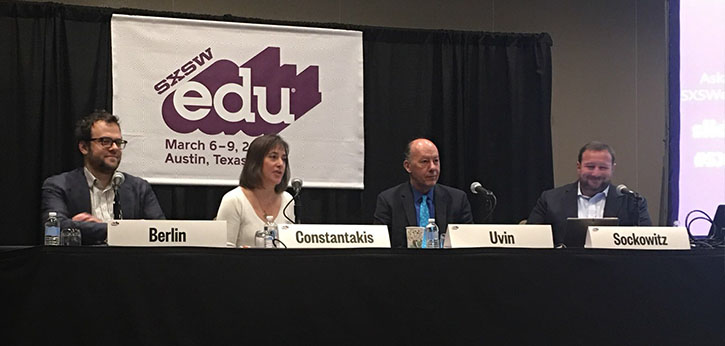 """IEL president Johan Uvin sits on an SXSW panel entitled """"Reach and Engage More Adult Learners with Mobile Tech."""""""