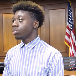 Right Turn youth participant talks about youth diversion and teen court peer juries.