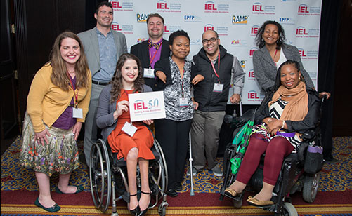 Group of event attendees at a celebration for IEL's 50th anniversary