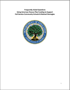 Cover of the FAQs Using American Rescue Plan Funding