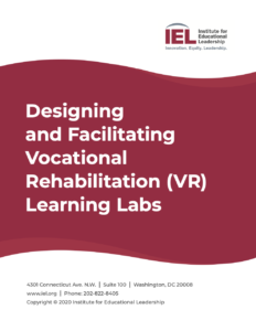 Cover of the Designing and Facilitating Vocational Rehabilitation Learning Labs