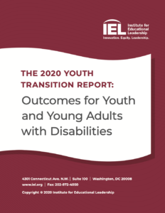 Cover of the 2020 Youth Transition Report