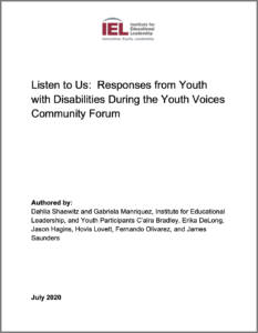 Cover of Responses from Youth Voices Community Forum